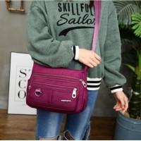 Waterproof Nylon Shoulder Bag Tas Selempang Wanita Import CS-010
