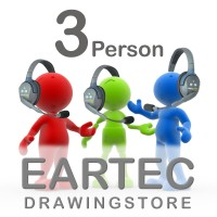 Eartec Ultralite HD 3 Person Communication Headset System Combo - UL3