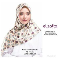 Hijab Jilbab Kerudung Segi Empat KAILA LAZARY Scarf ELZATTA Original