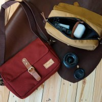 Tas Kamera Firefly Skye / Canvas Leather Bag