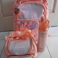 Smiggle Bagpack Mermaide Peach Set