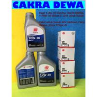 Paket Oli filter c 1204 Suzuki APV Ertiga Karimun 3Ltr Idemitsu 10W30