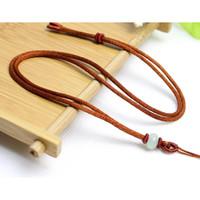 Kalung Tali Untuk Liontin Bandul Kerajinan Rajut Batu Giok J075 - Cokelat