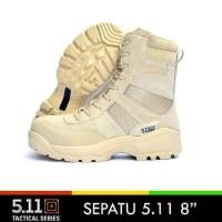 sepatu tactical boots 511 warna coklat / tan 8inchi - Cokelat, 40