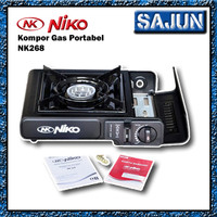 Niko kompor gas portable 2in1 NK268