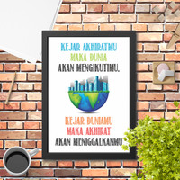 Poster Hiasan Dinding islami Kejar Akhiratmu 1 quote islami