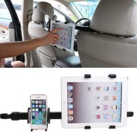 Universal 2 In1 Ipad Phone Car Back Seat Headrest Mount Holder Stand B