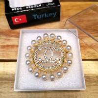 Bros Mewah Impor Aksesoris Asli Turki Anti Karat - CHN2 Gold Mutiara