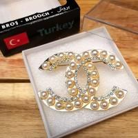Bros Mewah Impor Aksesoris Asli Turki Anti Karat - CHN4 Gold Mutiara