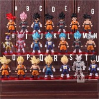 Action Figure Dragon Ball Mini Figure Set Dragon Ball Son Goku Vegeta