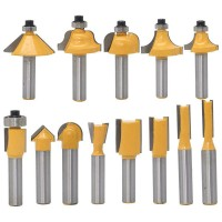 [Import] 13Pcs 8Mm Shank Wood Router Bit Straight End Mill Trimmer