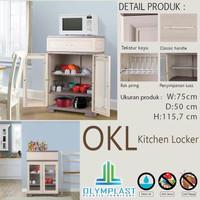 Olymplast Kitchen Locker OKL Rak Piring Lemari Plastik Dapur Besar