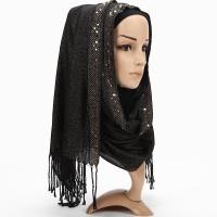 Pashmina Hijab Scarf Glitter Bahan Viscose Tassel 15336