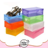 DapurCantik 110gr Kotak Sepatu Transparan Warna Warni Kotak Sepatu War