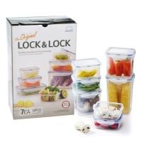 Lock Lock Exclusive Special Gift Plastic Container Isi 7pcs
