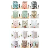 R301 Keranjang Laundry Baju Kotor Motif Karakter Lipat Basket Storage