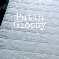Pusat Wallpaper Foam 3D Brick Emboss Bata Alam Putih Dinding Stiker Mu
