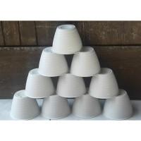 Ori BJP Pot Tawon 10 cm PUTIH Tawon Pot 11 Plastik 10cm Vas Bunga Tana