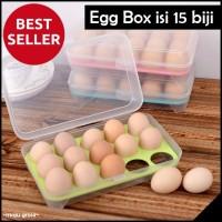 Tempat Box Telur 15 Lubang Sekat Kotak dengan sekat khusus Telor 430