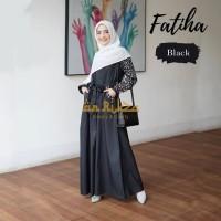 Fatiha dress black L /gamis murah berkualitas