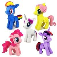 Boneka Pony Twilight Sparkle, Flutershy, Rainbow Dash, Rarity, Pinkie