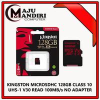 KINGSTON MICROSDHC 128GB CLASS 10 UHS-1 V30 READ 100MB/s NO ADAPTER