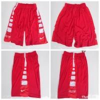 Celana Basket Nike Elite Training MERAH - Merah Putih Grade Original