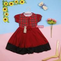 Dress Keisha uk 1-2 Tahun / Dres Lengan Anak Perempuan Gaun Pesta Lucu