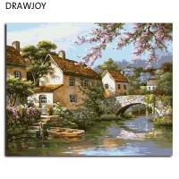Landscape Frameless Gambar Lukisan Dengan Angka DIY Minyak Lukisan