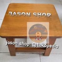 Kursi kayu pendek/Bangku kayu pendek uk tinggi 30cm/Kursi jongkok kayu