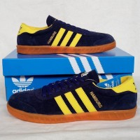 Sepatu Pria Sepatu Adidas Hamburg Navy Yellow 2 Sepatu Cowok Murah