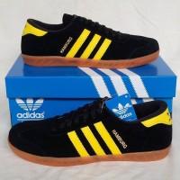 Sepatu Pria Sepatu Adidas Hamburg Black Yellow Sepatu Cowok Murah