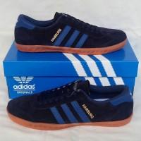 Sepatu Pria Sepatu Adidas Hamburg Black Blue Sepatu Cowok Murah
