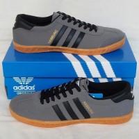 Sepatu Pria Sepatu Adidas Hamburg Grey Black Sepatu Cowok Murah