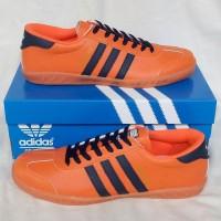 Sepatu Pria Sepatu Adidas Hamburg Orange Black Sepatu Cowok Murah