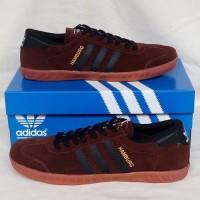 Sepatu Pria Sepatu Adidas Hamburg Brown Black Sepatu Cowok Murah