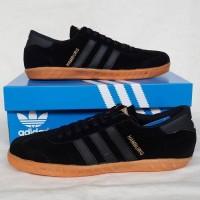 Sepatu Pria Sepatu Adidas Hamburg Black 2 Sepatu Cowok Murah