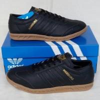 Sepatu Pria Sepatu Adidas Hamburg New Black Gum Sepatu Cowok Murah