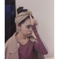 bando headband jumbo / hair band korea / coklat aksesoris rambut
