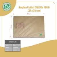 Amplop Coklat Ukuran Folio (1Pack Isi 100pcs)