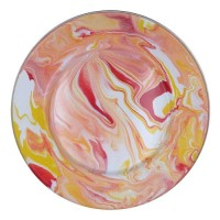 KedaungHome Piring Enamel Marble KI-P/22CM