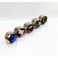 BROS MAGNET TURKI - LEOPARD BLUE/ PINK/ GREY/ BROWN 12mm