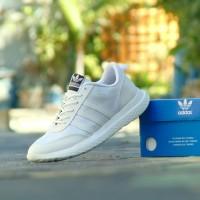 Sepatu Sport Adidas Samba - Full White Putih - Casual Kets Pria Wanita