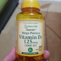 puritan's puritan pride d3 vit d3 vitamin d3 5000iu 5000 iu 200 sg