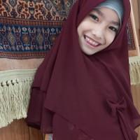 hijab jilbab khimar anak pita layer