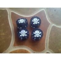 Black Speed Knob White Skull Potensio Volume / Tone Control Knop Gitar