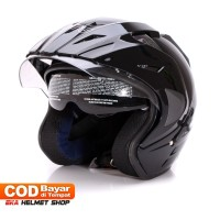 Termurah Helm Dewasa WTO Helmet Pro-Sight - Double Visor - Black