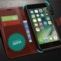 FLIP COVER KULIT HUAWEI HONOR 7A/ Y6 2018 LEATHER CASE WALLET