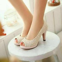 sepatu sendal High Heels Wanita cewe pesta tinggi Import 03X35
