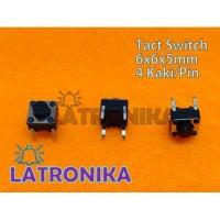 Tactile Switch Push Button Saklar Kecil Push On Tact 6x6x5mm